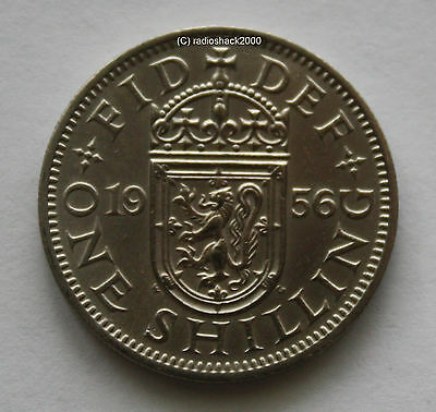1956 Elizabeth II One Shilling coin Good Condition