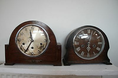 2 Old mantle clocks for renovation a westminster  chime and a  striker.