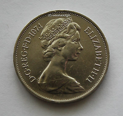1974 Elizabeth II Ten New Pence 10p Old Large type Coin