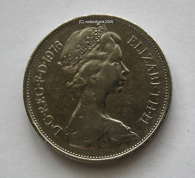 1976 Elizabeth II Ten New Pence 10p Old Large type Coin
