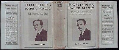 HOUDINIs PAPER MAGIC (1922 First Edition Reproduction Book DustJacket)