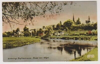 Herefordshire postcard - Evening Reflections, Ross on Wye