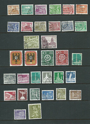 Germany Berlin 1950s 33 old used stamps