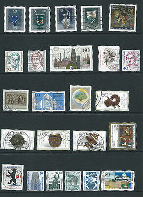 Germany Berlin early 1980s 24 different old used stamps