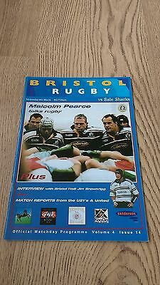 Bristol v Sale March 2000 Rugby Union Programme