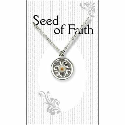 Mustard Seed Circle Necklace