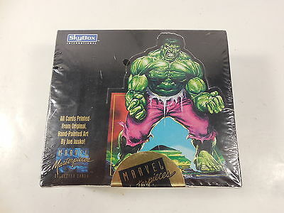 Sealed Skybox Marvel Comics Masterpieces Collector Trading Cards Box 1992 Jusko