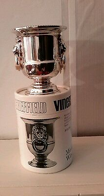viners minature wine cooler  sheffield plate silver