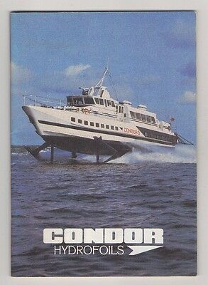 Condor Hydrofoils  (Channel Islands Ferry Boats) 44 Page Booklet