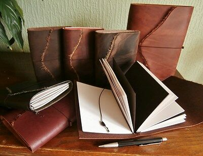 Handmade Leather Refillable Journal Midori Style Travellers Notebook Sketchbooks