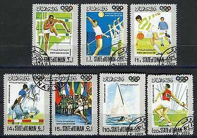 408 - Oman - Olympic Games Mexico 1968 - Used Set