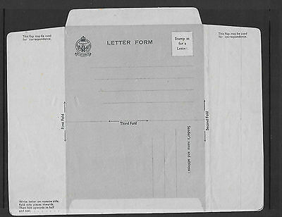 KG VI - unstamped NAAFI Air Mail Letter Form - unmounted mint
