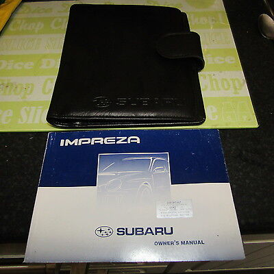 Subaru Impreza Blugeye 01,02 Owners Manual & leather wallet,Newage,Turbo,STi,wrx