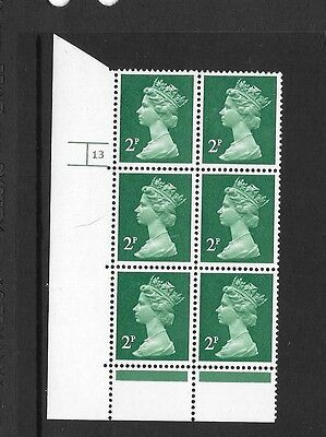 Machin - 2p PCP1/DEX - cylinder block of 6 - cyl 13  NO DOT - unmounted mint