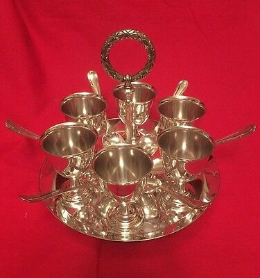 Antique Silver Plated Egg Cup Cruet By Martin, Hall & Co. c.1877-1897