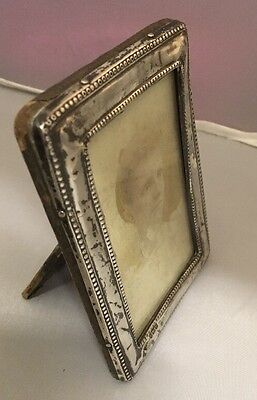Antique Silver Mounted Photograph Picture Frame Birmingham 1919