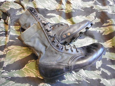 ORIGINAL vintage ADDISON US ARMY ISSUE VIETNAM PATTERN JUNGLE BOOTS USA 9 UK 8