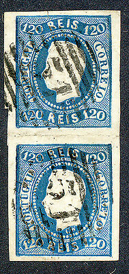 MADEIRA: Michel: Port. 24, FORERUNNER: 1866, Louis I., 120 r.blue (2)
