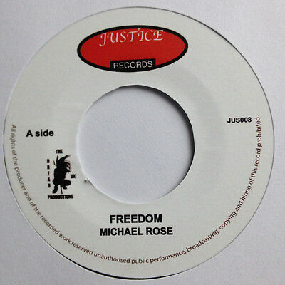"""Michael Rose – Freedom UK 7"""" MINT ROOTS JUSTICE"""
