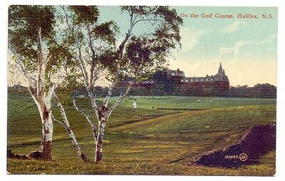 On The Golf Course,Halifax N.S.publisher  Valentine    (G)