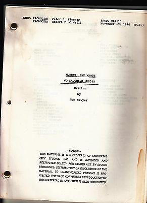 Vintage Orig Murder She Wrote Revised Script No Laughing Matter Angela Lansbury