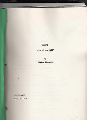 "Vintage Orig Cheers Script ""King of the Hill""  First Draft Ted Danson July 1984"