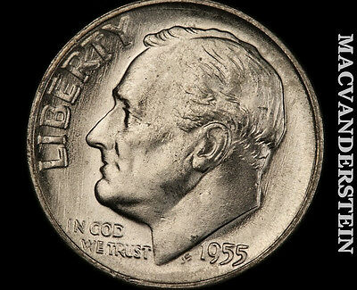 1955-S Roosevelt Dime-Choice Gem Brilliant Uncirculated!!  Luster!! *7255