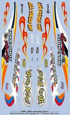 Gofer Racing Decals 1:24-1:25 Drag Cars (Model King) Decal Sheet 20001 GOF20001