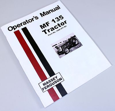 Mf 135 Owners Manual