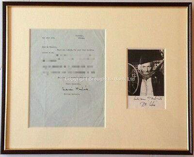 William Hartnell Signed Autograph & Letter Framed Dr. Who Autograph 1966