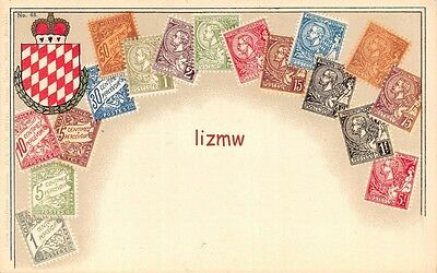 France Various Postage Stamps Not Real & Crest Printed Card