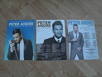 PETER ANDRE - 3 different Lovely colour tour flyers (Mint)