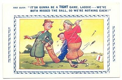 It'sh Gonna be a Tight Game Laddie,publisher Bamforth Golf Games, No 13546 (G)