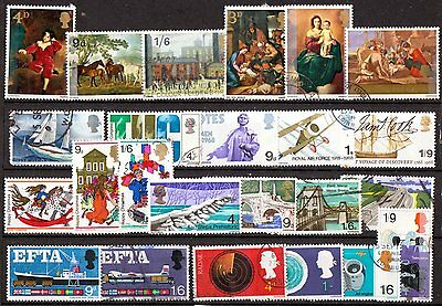 QEII 1967-68  8 used Commemorative sets (j254)
