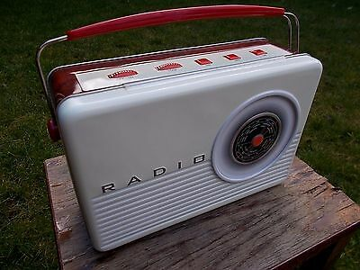 Novelty Empty Biscuit Tin In The Form Of A Vintage Retro Radio