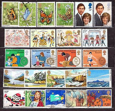 QEII 1981  6 used Commemorative sets (j243)