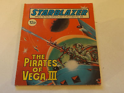 Starblazer Picture Library,no 22,1980 Issue,good For Age,very Rare Sci-Fi Comic.