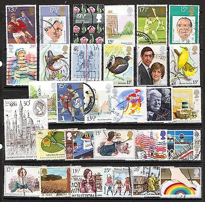 QEII 1980-89  30 HV Commemoratives used (j526)