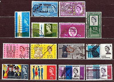 QEII 1960-65  8 used Commemorative sets (j253)