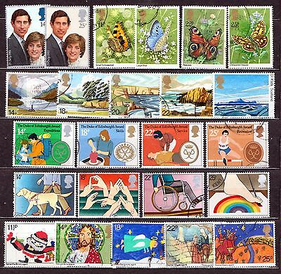 QEII 1981  6 used Commemorative sets (j232)