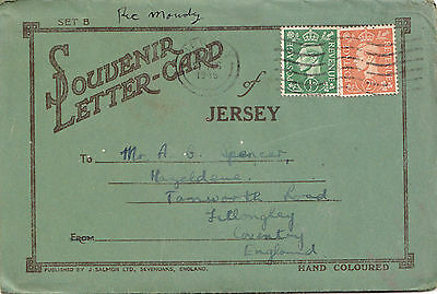JERSEY 6 VIEW LETTER CARD pu 1946