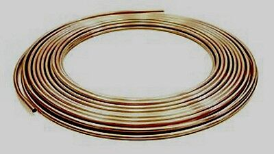 """9.6m Length of 8mm 5/16"""" Copper Gas Pipe Plumbing Tube"""