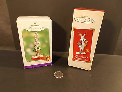 Hallmark Ornament 2 Bugs Bunny What's Up Doc A Very Carrot Christmas