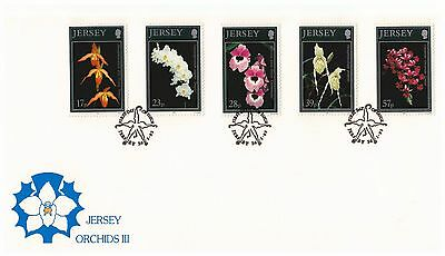 Jersey 1993 Orchids Set Of 5 House Of Questa First Day Cover