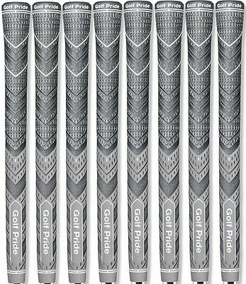 Authentic 8 Golf Pride MCC PLUS4 Golf Grips Midsize Grey   FREE SHIPPING
