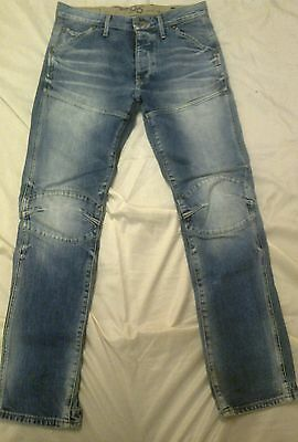 mens g star elwood heritage embro tapered jeans size 32 by 34