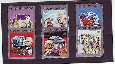 Congo (Brazzaville) - Sg1299-1304 Mnh 1992 Celebrities, Anniv & Events