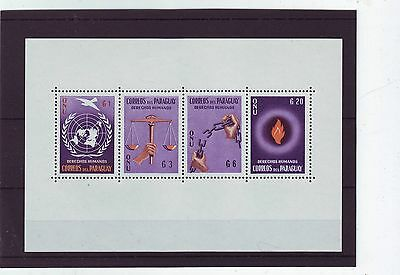 PARAGUAY - SGMS882a MNH 1960 HUMAN RIGHTS