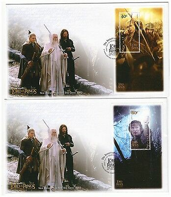 NEW ZEALAND 2003 LORD OF THE RINGS SET OF 6 SHEETLETS ON 6 x FIRST DAY COVERS
