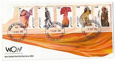 New Zealand 2004 Wearable Art Set Of 5 Official First Day Cover New Plymouth Cds